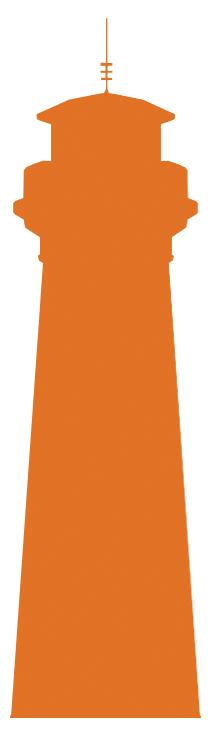 orangener Leuchtturm